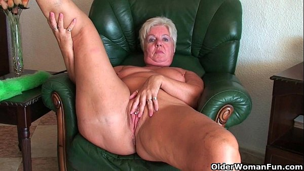 Mom takes care of her throbbing pussy