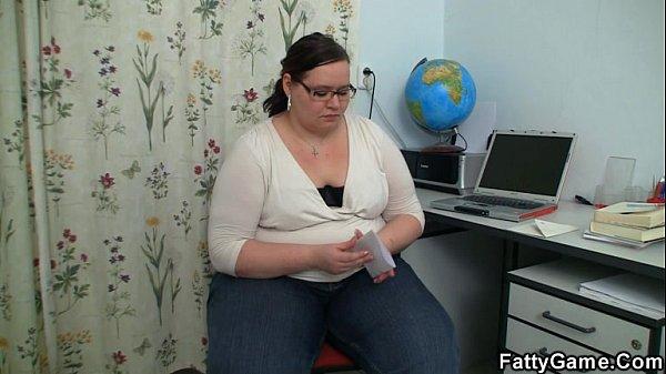 Slender stud seduced by plump teacher in nerdy glasses