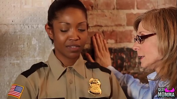 SEXYMOMMA - Ebony prison guard strapon fucked in the ass Thumb