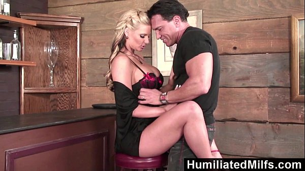 סרטי סקס HumiliatedMilfs – Blonde milf loves to get her ass full of cum