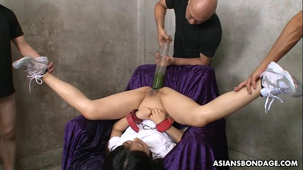 Filling her ass and pussy with all kinds of liquids Thumb