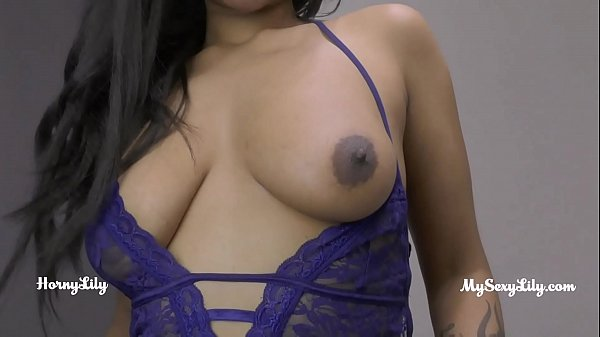 indian tamil maid with big ass in blue lingerie dirty hindi sex chat with husband Thumb