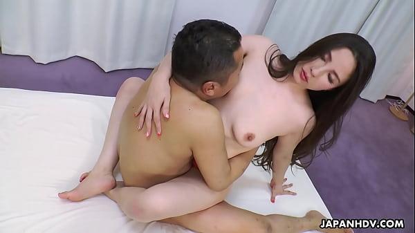 Japanese housewife, Ai Kamijou rides dick, uncensored Thumb