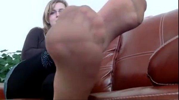 mrs teacher and her nylonfeet 8