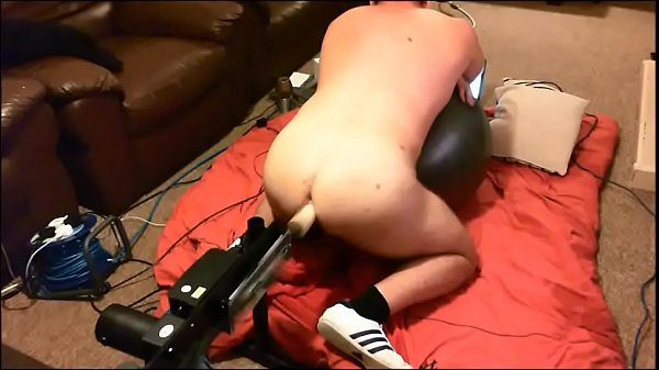 Slut Boy fucked by machine then electro butt plug fucking him with electric
