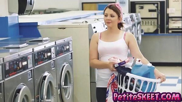 Laundromat fucking with tiny teen Cali Hayes Thumb