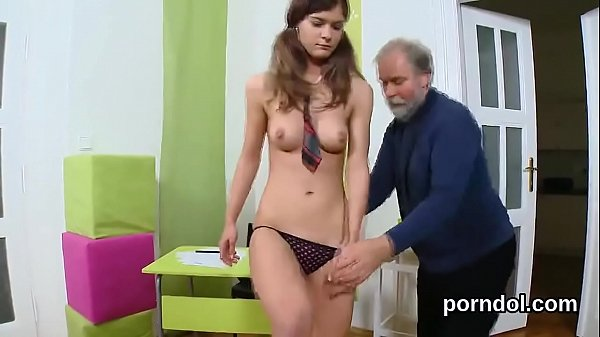 Elegant college girl gets seduced and plowed by her elderly lecturer