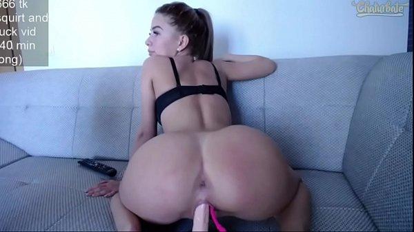 Teen Orgasm Riding Dildo