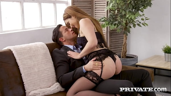 Private.com - Lingerie Clad Ginebra Bellucci Butt Banged & Creampied! Thumb