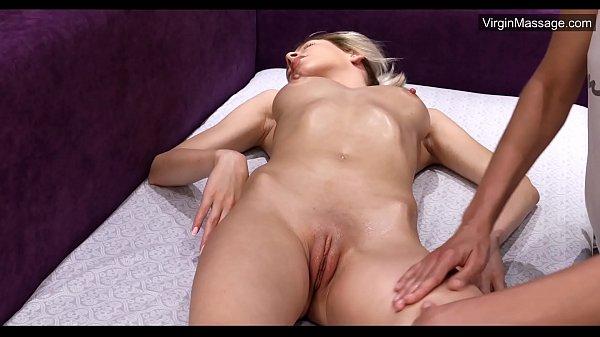 Masha being first time massaged