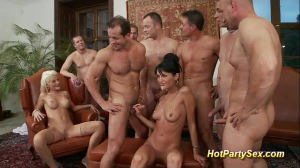 Wild Group Sex: Cute Girls In Business Party Orgy