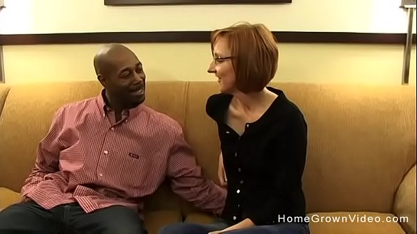 Tiny redhead mature gets fucked by a big black dick