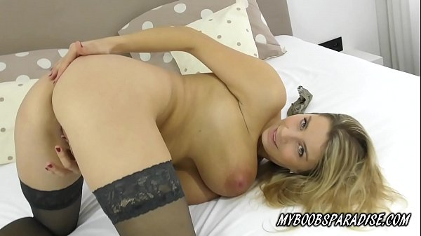 Busty MILF masturbate in sexy lingerie