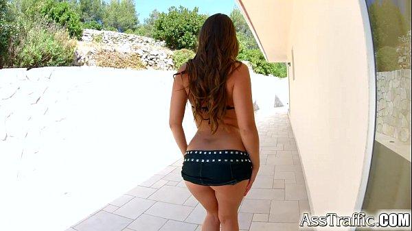 AssTraffic Anal sex fun for gorgeous exotic brunette