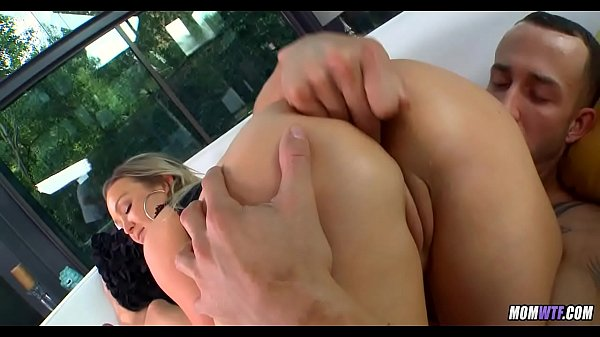 Oiled up MILF gets cock
