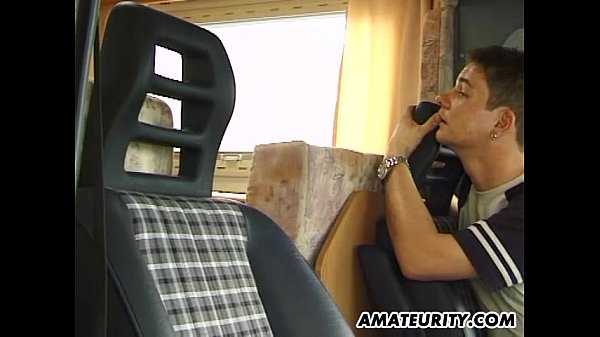 Amateur girlfriend threesome in a camping-car Thumb