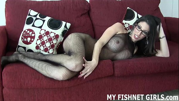 Rub your cock on my fishnet bodystocking JOI Thumb