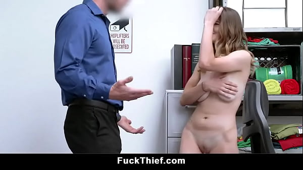 Tiny Small Tits Teen Sucks Cock Her Way Out Of Jail