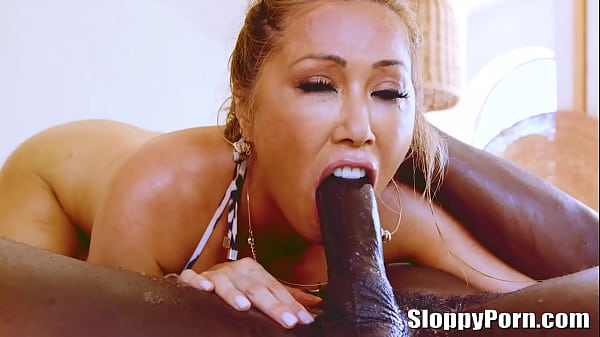 Busty asian MILF Kianna Dior interracial sloppy...