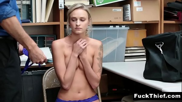Emma Hix Offers Security Officer a Blowjob For Her Freedom Thumb