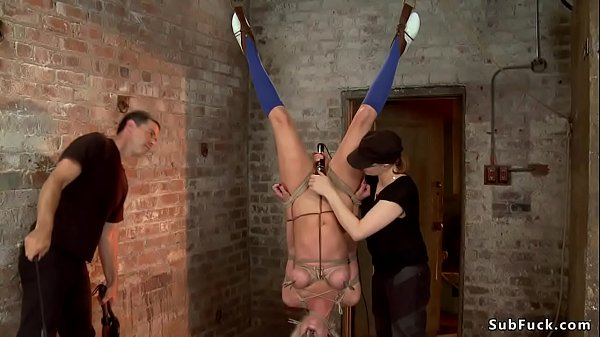 Dom couple torments bound blonde Thumb
