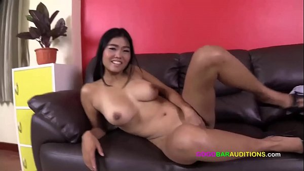 Busty Asian beauty auditions for GOGO boss