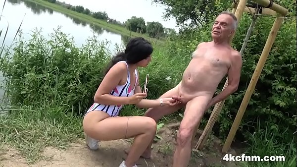 Sweet Teen wanking Old Pervert Gunther