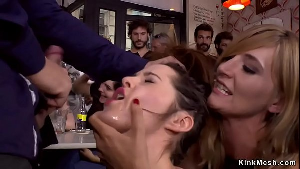 Mistress made babe fuck in public bar Thumb