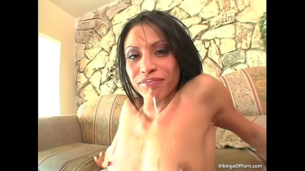 Jayna Oso couch anal fuck action with an ass to mouth cumshot