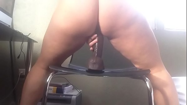 PAWG rides dildo until she cums