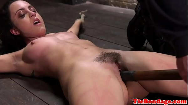 Restrained bdsm sub whipped and pussy toyed Thumb