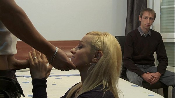 Cuckold watching how her slut wife is being fucked Thumb