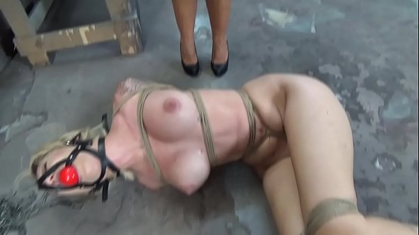 Dumb Reagan Lush is strictly bound and ball gagged in the basement while struggling Thumb