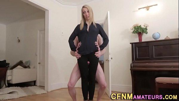 Cfnm fetish babe tugs