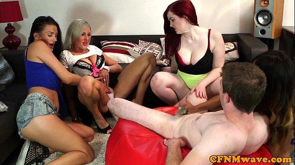 Cfrnm femdom group action with Carla Mai