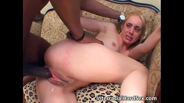 Brutal interracial anal fucking sex