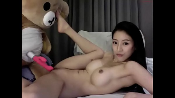 Asia Fox Playing with Teddy bear and Lush Sex Toy – 18min Chaturbate Cam Show