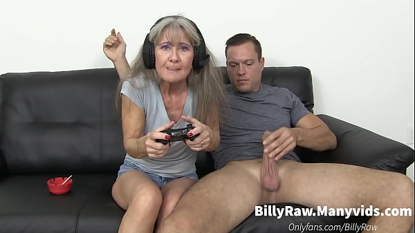 Video Gaming Granny Gets Big Dick