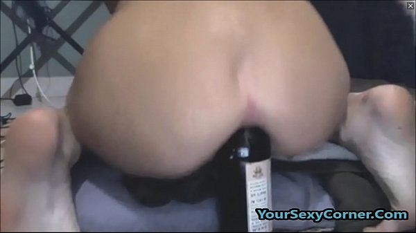 Extreme Beer Bottle Anal And Vaginal Insertion For Skinny Indian Thumb