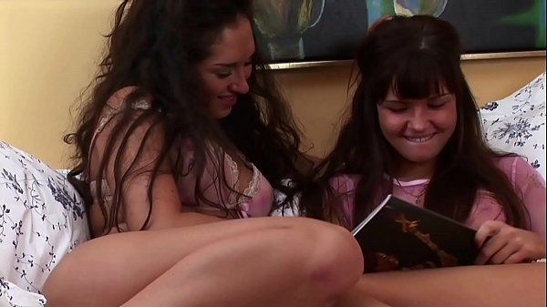 Amateur Lesbians After Class reading Porn Magazines & Enjoy Tight Pussies Thumb