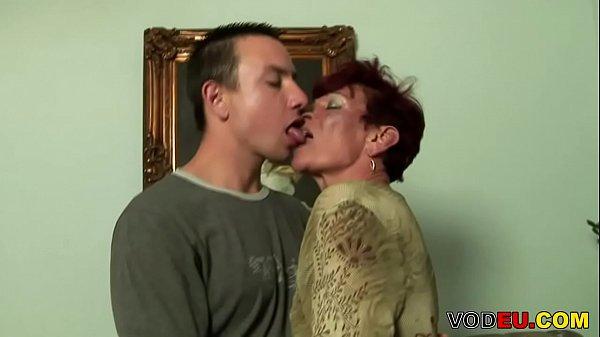 VODEU - Redhead grandma craving for young cock