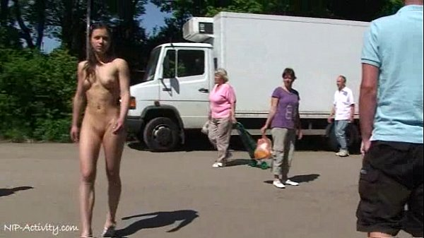July - Cute German Babe Naked In Public Streets