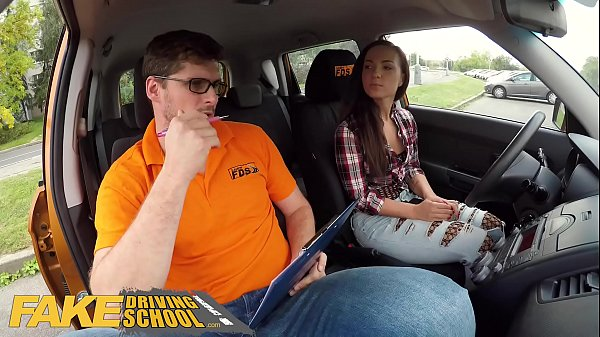 Fake Driving School Hot learner Kristy Black fucked doggy style Thumb