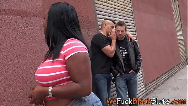Chubby black babe dped