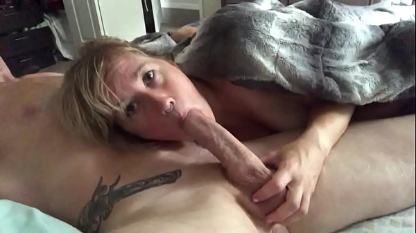 Little mama wanted to see how she looks sucking a big cock(loved it)