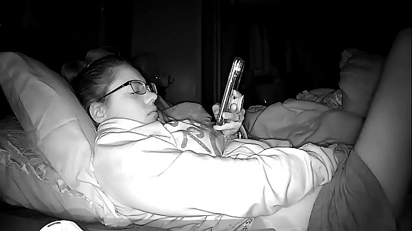 Peephole Camera Young High School Whore Masturbating Furiously to Porn