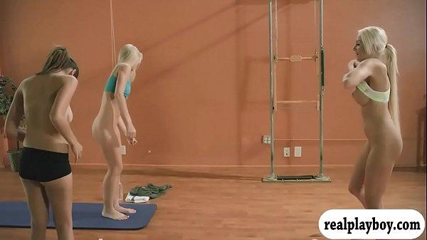 Hot Yoga Session With Big Boobs Blonde Coach Khloe Terae