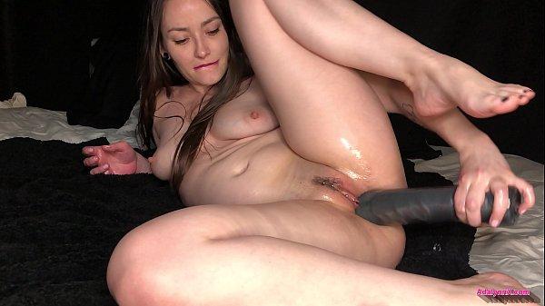 AdalynnX - Huge Dildo Deep Belly Bulge 1 Thumb