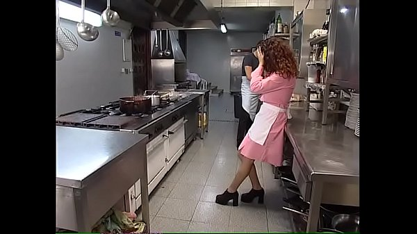 The new young waitress is hard fucked in the kitchen