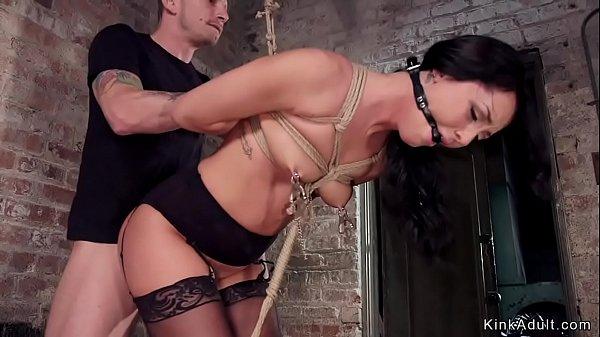 Gagged slave fucked as slave training